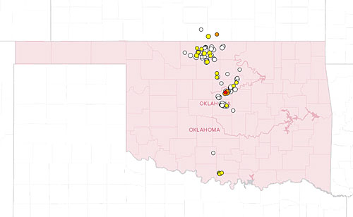 Earthquakes In Oklahoma Past June 12-July 12 2014