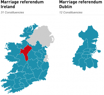 Irish Marriage Vote Maps