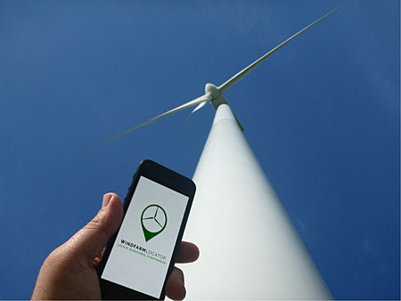 Wind farm locator