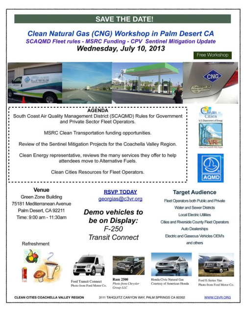 CNG workshop July 10