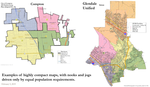 Compton and Glendale Unified District Maps