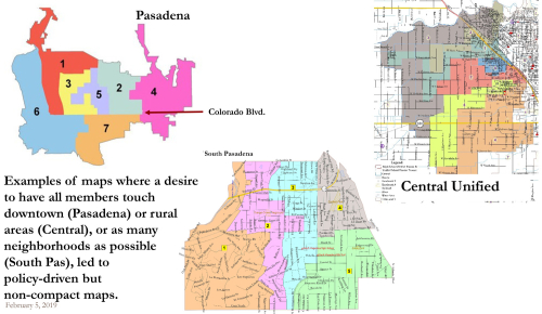 Pasadena and Central Unified District Maps